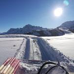 Präparierung und markieren Höhenweg Gaisbühel