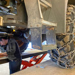 Hydraulik-Reparatur am Lader 524