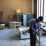 Finish der neuen Holzböcke
