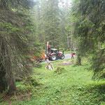 Forstarbeiten im Zugertal, mit Steyr 6240 CVT und Epsilonkran