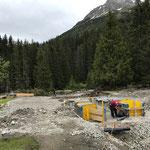 Arbeiten an der Rutschbahn