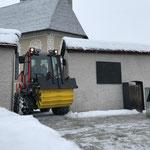 Streudienst im Winter, mit Holder C70 SC