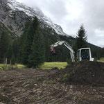 Humusieren Pflanzgarten nach Rückbau