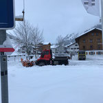 Schlosskopfparkplatz pflugen