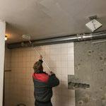 ... und Mal- und Ausbesserungsarbeiten im Keller