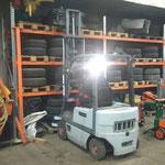 Bauhof-Garage aufräumen - Reifenlager