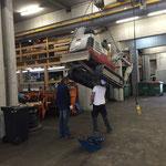 Hydraulikschlauch Bagger wechseln