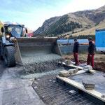 Betonierarbeiten, Rampe Bauhofdach