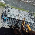 Gitter für Trans Vorarlberg Triathlon am Schlosskopf stellen