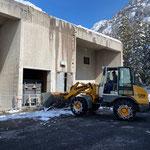 Schneeräumung für Heizwerk Lech