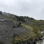 Aufschüttarbeiten Wanderweg Richtung Hexenboden Talstation
