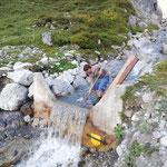 Wasserzufuhr Wasserscheide instand setzen