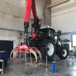 Es geht voran: nächstes Foto vom neuen Steyr, Aufbau Krankonsole