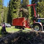 Forstarbeiten aufräumen Zugertal