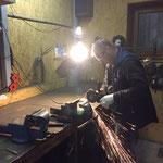 Reparaturarbeiten für den Containerhänger