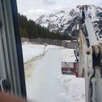 TB 216, Schneeräumung Wanderweg Heizwerk Oberlech