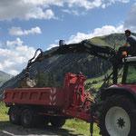Feinplanie laden am Bauhof für Rundumgestaltung Christbaum Zug...
