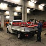 Wegebänke sammeln und am Bauhof versorgen