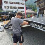 Musikantentag am Rüfiplatz aufbauen
