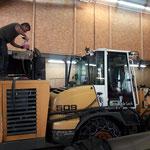 Lader 509  mit Fräsaufbau, Maschinencheck