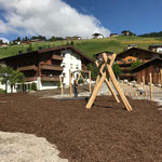 Spielplatz sport.park: Fallschutz/Rindenmulch