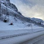 Winterwanderweg Richtung Zürs anlegen