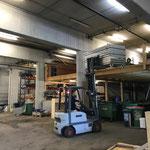 Bauhof aufräumen, Bühnenelemente versorgen