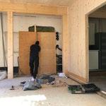 Außeneingang Lift Feuerwehrhaus verschalen