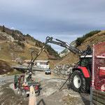 Weg schütten Wanderweg Zürs - Lech, Fertigstellung