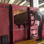 Adaptierungsarbeiten Container für U 530