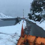 Drittleistung: Salzen für ÖBB Baustelle Spullersee