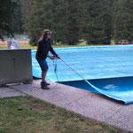 Waldbad Lech, Becken abdecken