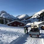 Winterwanderwegpflege in Stubenbach