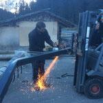 Bauhofdach aufräumen und winterfest machen