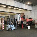 ...und letzte Materiallieferungen zum Bauhof