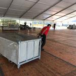 Abbau Zelt AMF und Stammgästetreffen