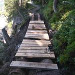 Lechweg-Instandsetzung: Beplankung nageln