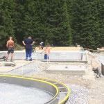 Beckentechniker im Schwimmbad