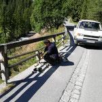 Bruchhalde Brückengeländer reparieren