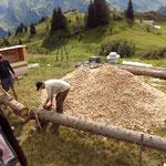 Neuer Grillplatz Oberlech: Aufbau
