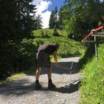 Rinnen putzen Burgwaldweg