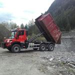 Waldbad Lech - Bauschutt auf Deponie bringen, mit U530
