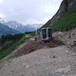 TB 216, Wegebau Lawinenschaden Richtung Warth