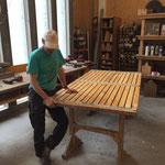 Sitzflächen Betonbänke reparieren