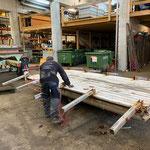 Abbau und Verwertung alte Stegelemente Zürsersee