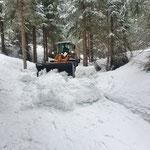 Schneeräumung Zufahrt Waldbad