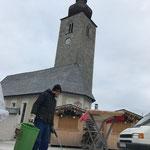 Weihnachtsmarkt Lech, Aufräumarbeiten