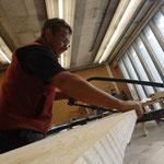 Holzarbeiten für Restaurierung Zuger Säge in der Tischlerei