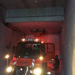 Splitt laden für Schüttung Bodenplatte, Waldbad Lech - Kinderbecken-Neubau