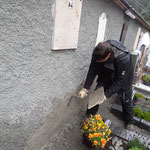 Friedhofsmauer verputzen nach Sanierung